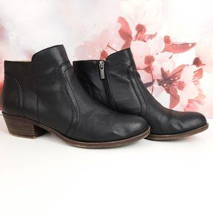 Lucky Brand Black Leather Breck Bootie 9 9.5